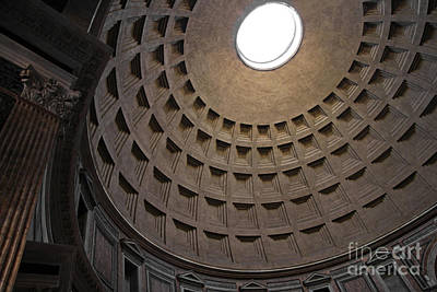 The Ceiling Of The Pantheon Print by Chris Hill