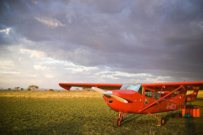 The Cessna Makes A Pit Stop To Refuel Print by Michael Fay