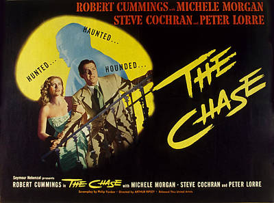 Posth Photograph - The Chase, Michele Morgan, Peter Lorre by Everett
