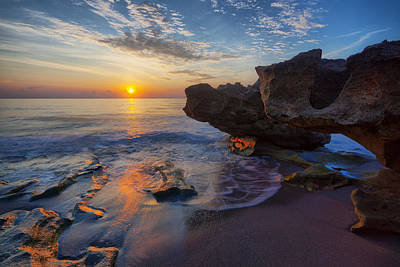 The Cliffs Of Florida Print by Claudia Domenig