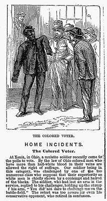 The Colored Voter, 1867 Print by Granger