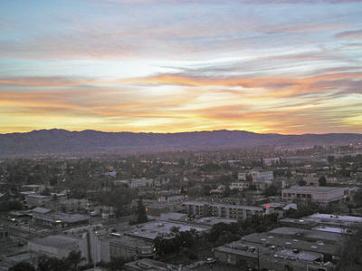 The Colors Of The Sky Over San Jose At Sunset Print by Ashish Agarwal