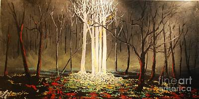 Landscape Painting - The Congregation by Stefan Duncan