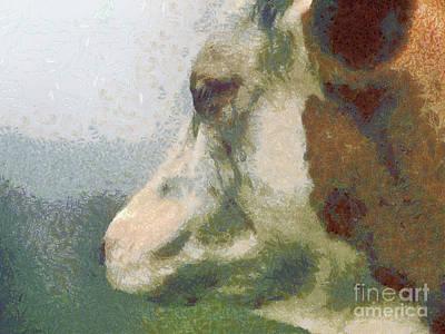 The Cow Portrait Print by Odon Czintos