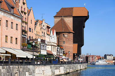 Danzig Photograph - The Crane In Gdansk Old Town by Artur Bogacki