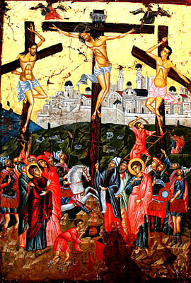 Egg Tempera Painting - The Crucifixion by Artur Sula