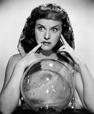 The Crystal Ball, Paulette Goddard, 1943 Print by Everett