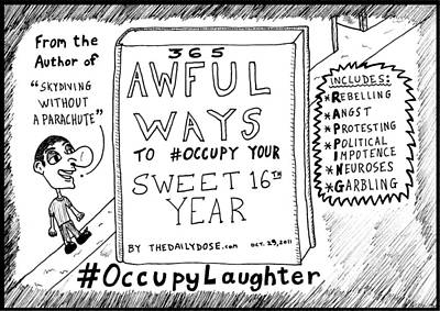 The Daily Dose Sweet 16 Occupy Laughter Book You Never Read Cartoon Original by Yasha Harari