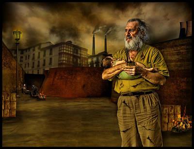 Raul Photograph - The Dark City's Homeless by Raul Villalba