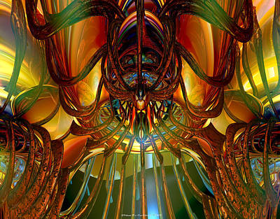 Abstract Digital Art - The Demon Mother Lair Exposed Fx  by G Adam Orosco