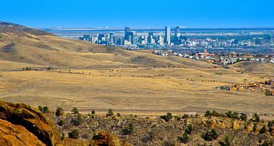 Colorado Photograph - The Denver Skyline by David Patterson