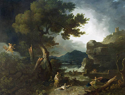 The Destruction Of Niobe's Children Print by Richard Wilson