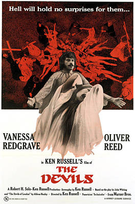 1970s Movies Photograph - The Devils, Oliver Reed Back, Vanessa by Everett