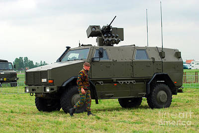 The Dingo II In Use By The Belgian Army Print by Luc De Jaeger