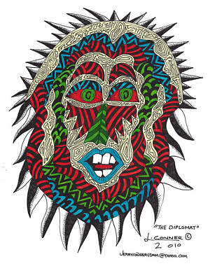 Primitive Drawing - The Diplomat by Jerry Conner