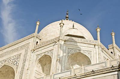 The Dome Of Taj Mahal In The Morning Print by Lori Epstein
