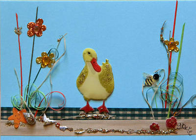 Gracie Mixed Media - The Duck by Gracies Creations