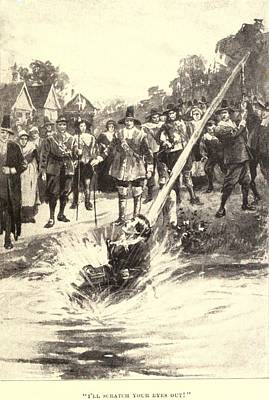 The Ducking Stool Originated Print by Everett