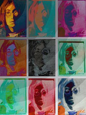 John Lennon Drawing - The Essence Of Light V2- John Lennon by Jimi Bush