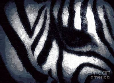 Zebra Painting - The Eye Of The Zebra by Deborah MacQuarrie-Haig