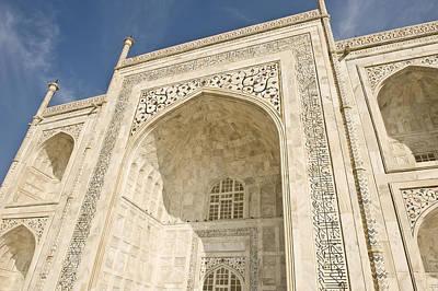 The Facade Of The Taj Mahal Print by Lori Epstein