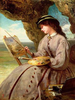 Cave Painting - The Fair Amateur by Abraham Solomon