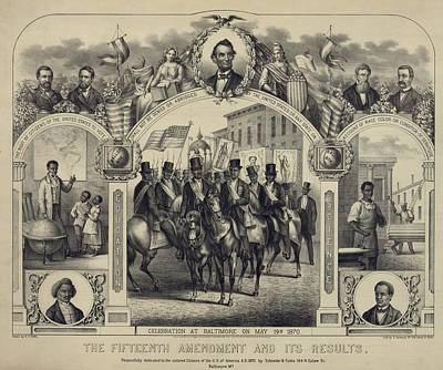 The Fifteenth Amendment Banning Voting Print by Everett