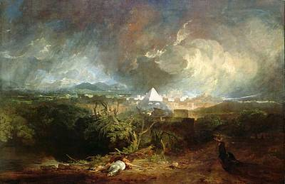 The Fifth Plague Of Egypt Print by Joseph Mallord William Turner