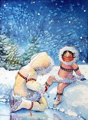 Illustration For Childrens Book Painting - The Figure Skater 1 by Hanne Lore Koehler