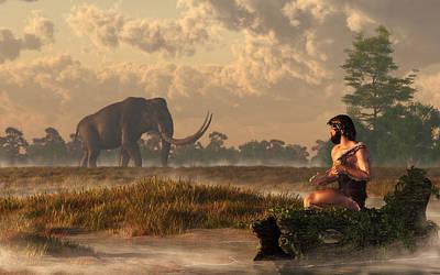 Ice Age Digital Art - The First American Wildlife Artist by Daniel Eskridge