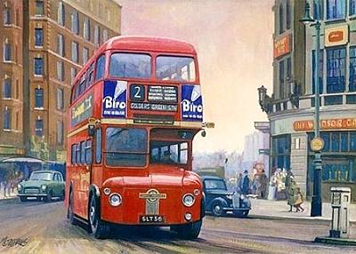 The First Routemaster. Original by Mike  Jeffries