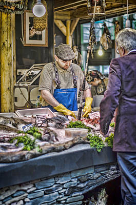The Fish Monger Print by Heather Applegate