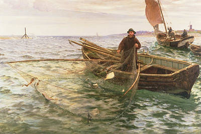 Harbor Painting - The Fisherman by Charles Napier Hemy