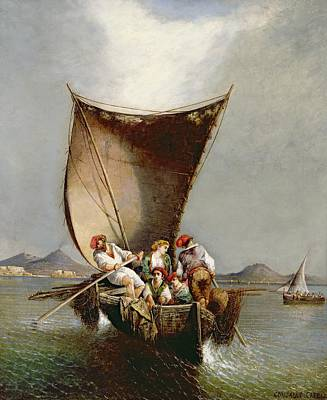 Yacht Painting - The Fisherman's Family by Consalvo Carelli