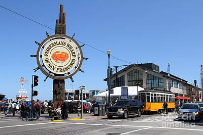 The Fishermans Wharf Sign . San Francisco California . 7d14232 Print by Wingsdomain Art and Photography