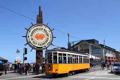 The Fishermans Wharf Sign . San Francisco California . 7d14234 Print by Wingsdomain Art and Photography