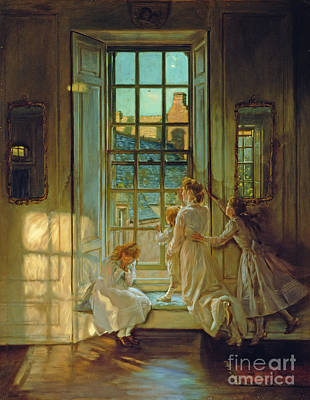 Girl Room Painting - The Flight Of The Swallows by John Henry Lorimer