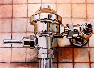 Urinal Painting - The Flush by Baron Dixon