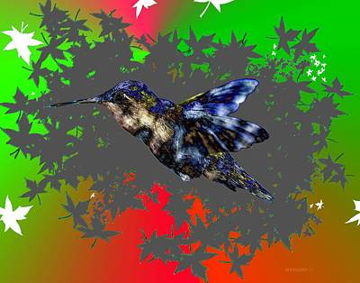 Birds Digital Art - The Fly Of Hummingbird by Mario Perez