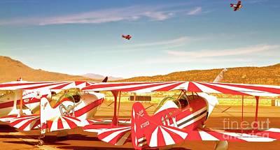 The Flying Circus Reno Air Races Original by Gus McCrea