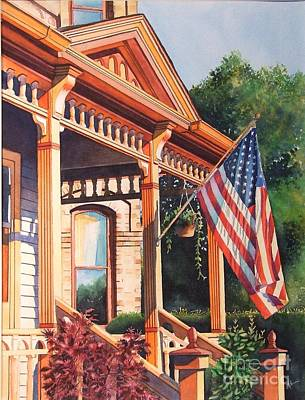 Historic Home Painting - The Founders Home by Greg Halom