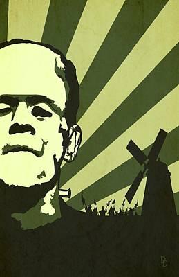 Halloween Digital Art - The Frankenstein's Monsters by Dave Drake