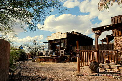 The Freight Depot In Old Tuscon Arizona Print by Susanne Van Hulst