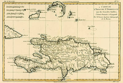 West Indies Drawing - The French And Spanish Colony Of The Island Of St Dominic Of The Greater Antilles by Guillaume Raynal