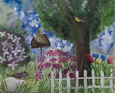 The Garden Print by Barbara McNeil