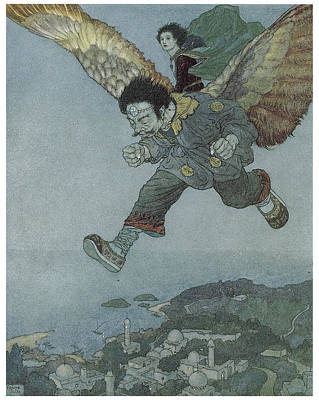 Make Believe Painting - The Garden Of Paradise by Edmund Dulac