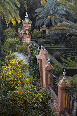 The Gardens Of The Alcazar Palace Print by Krista Rossow