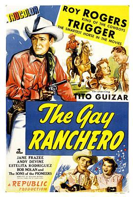 The Gay Ranchero, Roy Rogers, Trigger Print by Everett