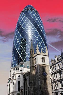 The Gherkin London Print by Jasna Buncic