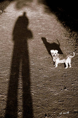 Dog Walking Digital Art - The Giants Companion by Ed Smith
